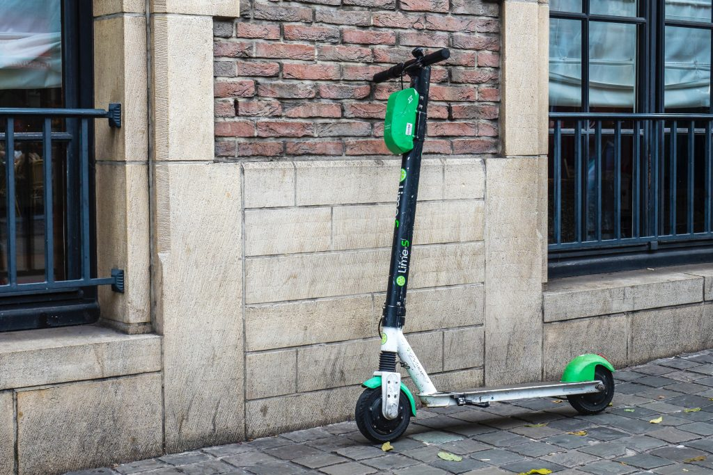 electric scooter riding